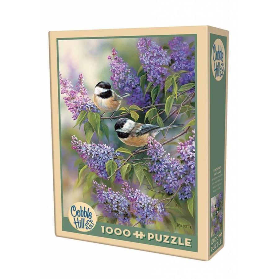 Les oiseaux en violet - puzzle de 1000 pièces-2