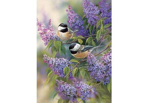 Chickadees - Lilacs - 1000 pieces