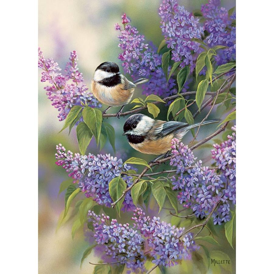 Les oiseaux en violet - puzzle de 1000 pièces-1