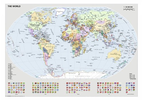 Constitutional world map - 1000 pieces