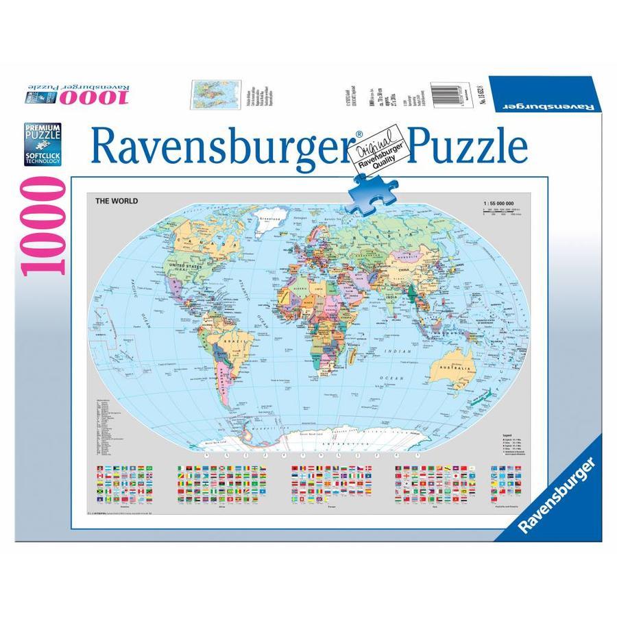 Staatkundige wereldkaart - 1000 stukjes-2