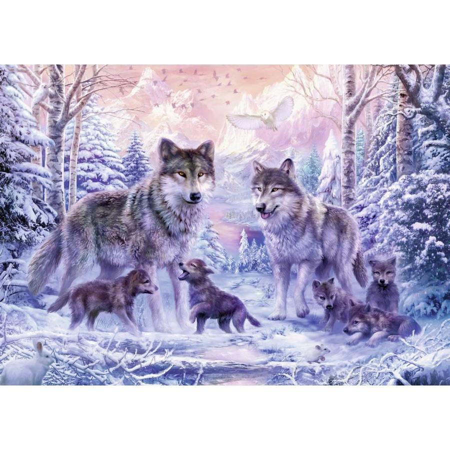 Les loups de l'Arctique - 1000 pièces-1