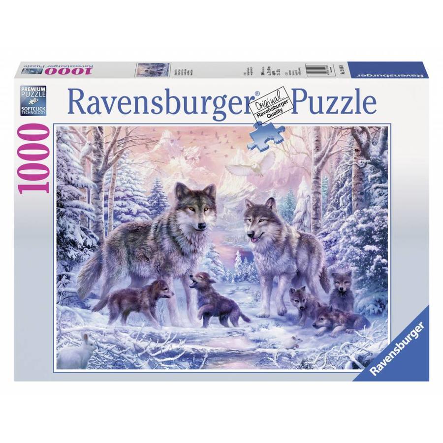 Les loups de l'Arctique - 1000 pièces-2