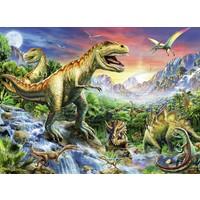 thumb-Bij de dinosaurussen - 100 stukjes XXL-1