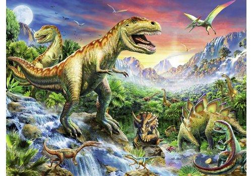 Bij de dinosaurussen - 100 stukjes XXL