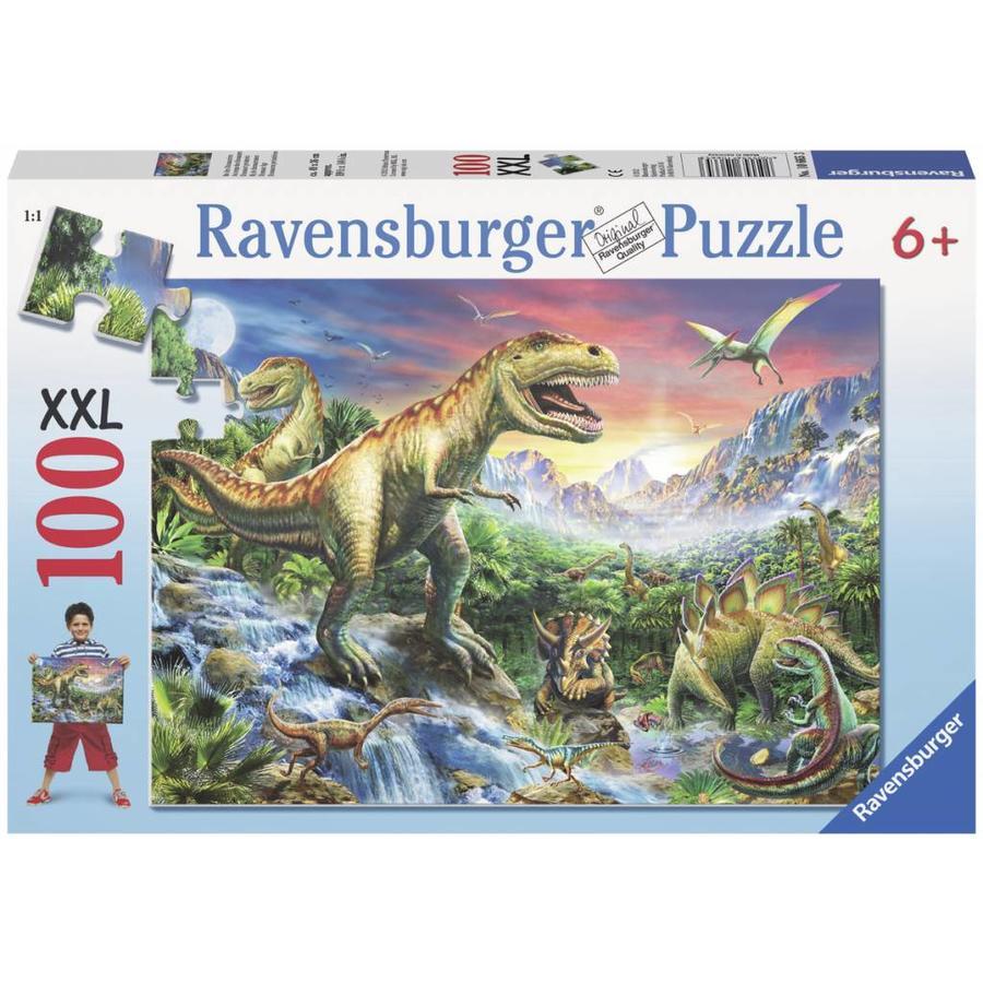 Bij de dinosaurussen - 100 stukjes XXL-2