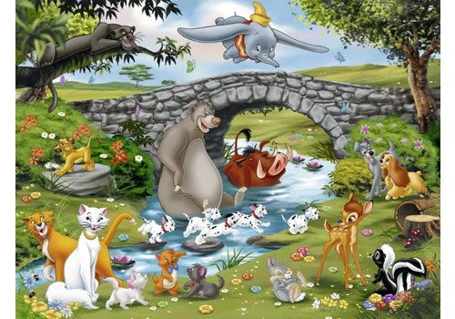 De grote Disney familie - 100 stukjes XXL