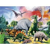 thumb-Tussen de dinosauriërs - 100 stukjes XXL-1