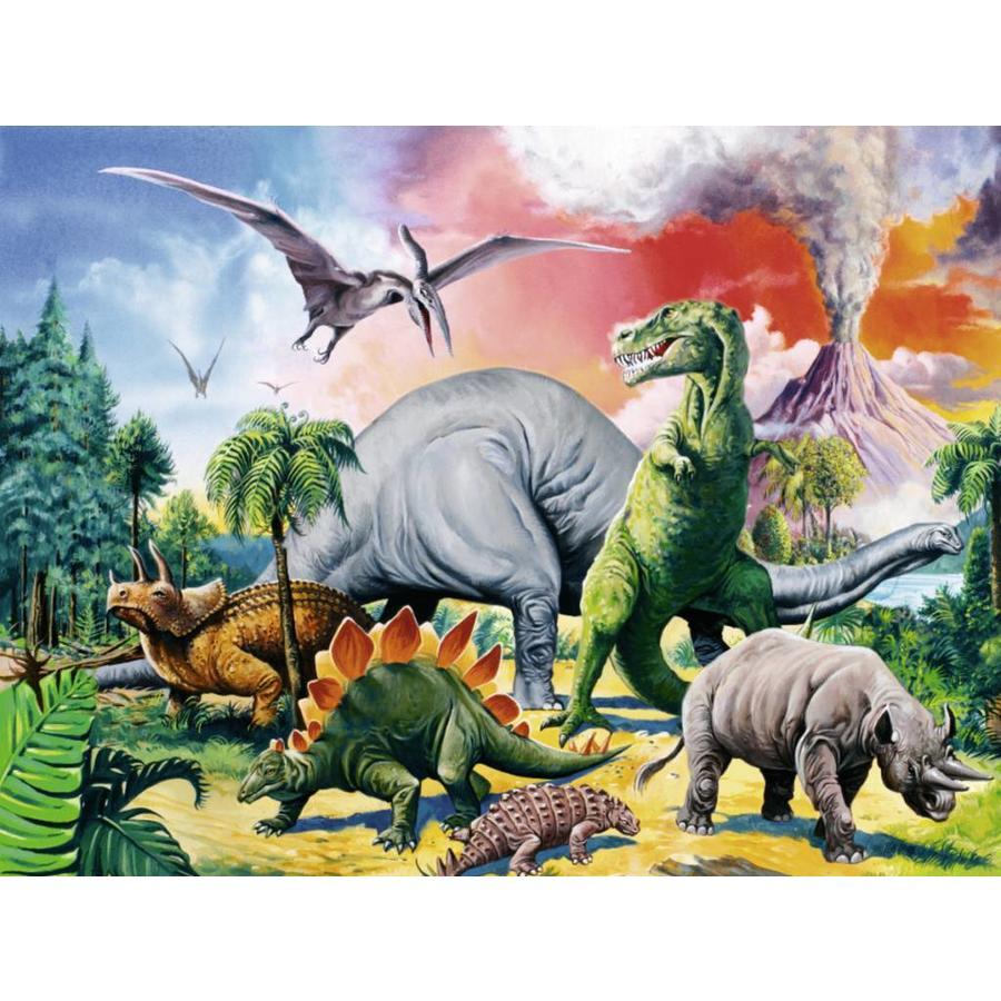 Tussen de dinosauriërs - 100 stukjes XXL-1