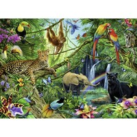 thumb-Dieren in de jungle - 200 stukjes XXL-1