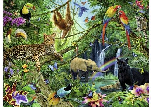 Dieren in de jungle - 200 stukjes XXL