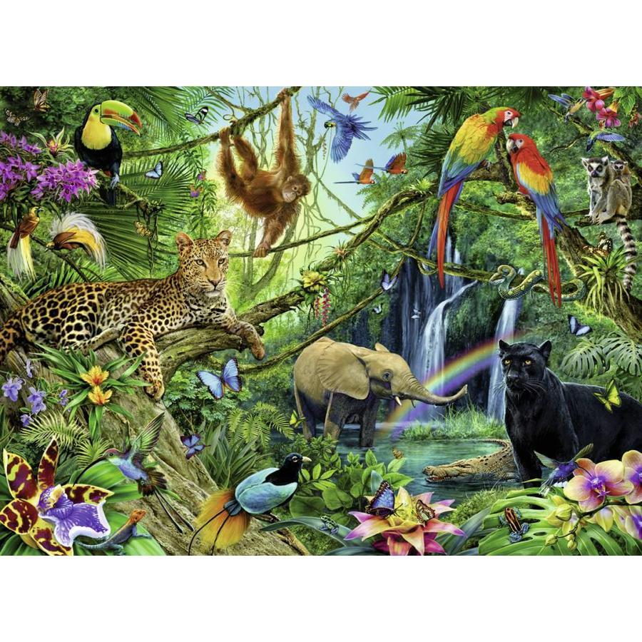 Les animaux dans la jungle - 200 pièces XXL-1