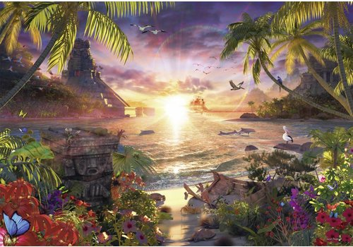 Paradijselijke zonsondergang - 18000 stukjes