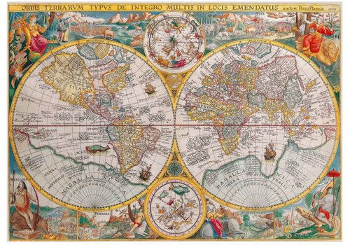 World map from 1594 - 1500 pieces