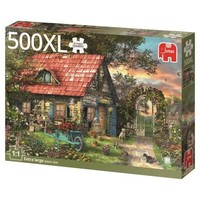 thumb-Het tuinhuis - puzzel van 500 XL stukjes-1