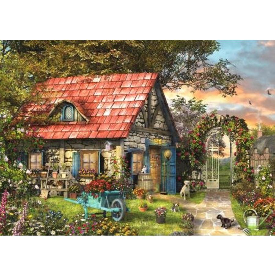 Het tuinhuis - puzzel van 500 XL stukjes-2