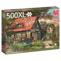 thumb-Het tuinhuis - puzzel van 500 XL stukjes-3