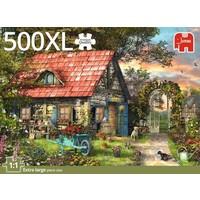 thumb-Het tuinhuis - puzzel van 500 XL stukjes-4