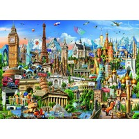 thumb-Europe Landmarks - jigsaw puzzle of 2000 pieces-2