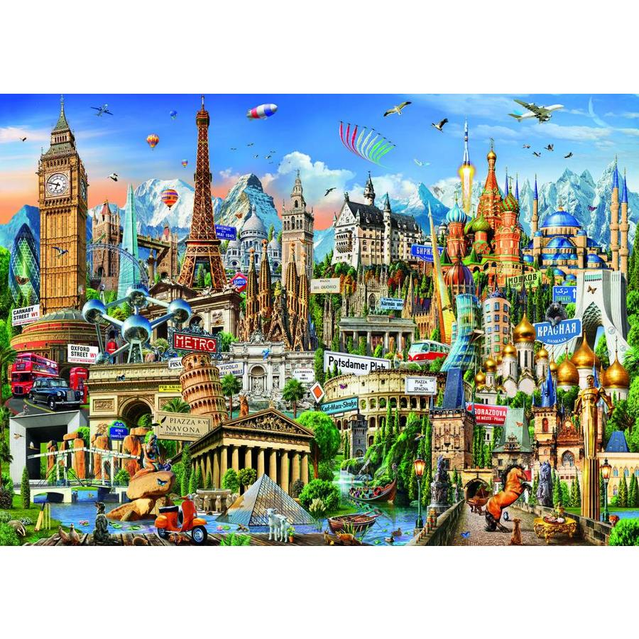 Europe Landmarks - jigsaw puzzle of 2000 pieces-2