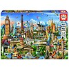 Educa Europe Landmarks - jigsaw puzzle of 2000 pieces