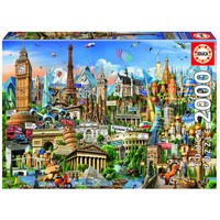 thumb-Europe Landmarks - jigsaw puzzle of 2000 pieces-1