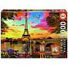 Educa Sunset in Paris - jigsaw puzzle of 3000 pieces