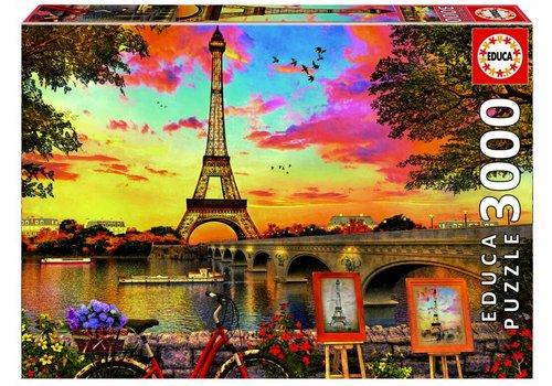 Educa Coucher de soleil à Paris - 3000 pièces