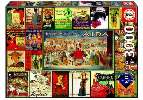 De opera - collage van affiches - 3000 stukjes