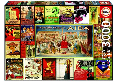 The Opera - collage of posters - 3000 pieces