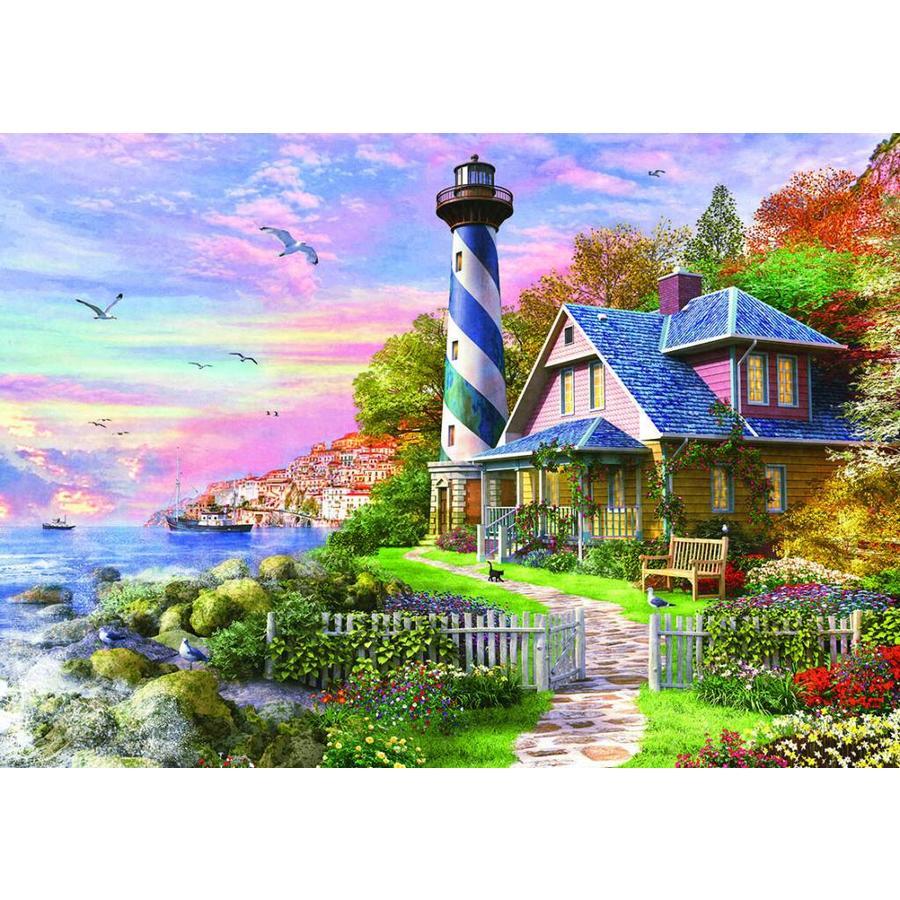 Phare à Rock Bay - puzzle de 4000 pièces-2