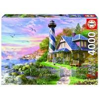 thumb-Phare à Rock Bay - puzzle de 4000 pièces-1