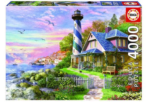 Lighthouse at Rock Bay - 4000 pieces