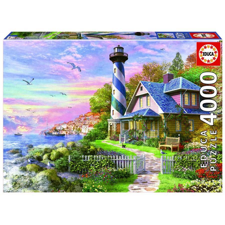 Vuurtoren in Rock Bay - puzzel van 4000 stukjes-1