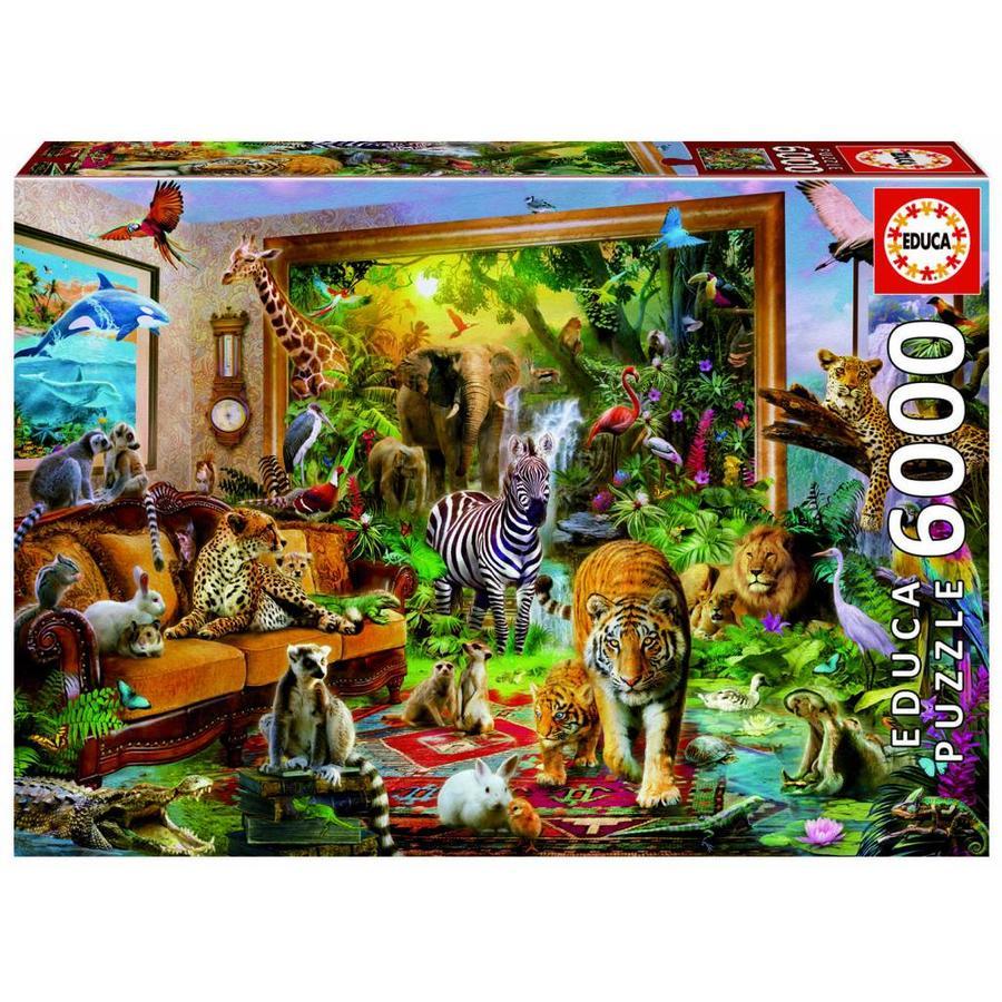Stapje in de wereld - puzzel van 6000 stukjes-1