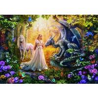 thumb-De draak, de prinses en de eenhoorn - legpuzzel van 1500 stukjes-2