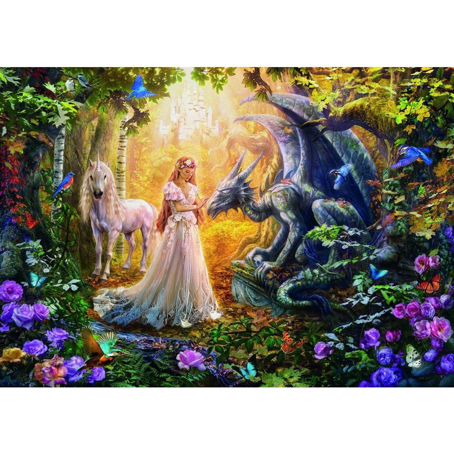De draak, de prinses en de eenhoorn - legpuzzel van 1500 stukjes-2