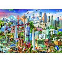 thumb-Symboles d'Amérique du Nord - puzzle de 1500 pièces-2