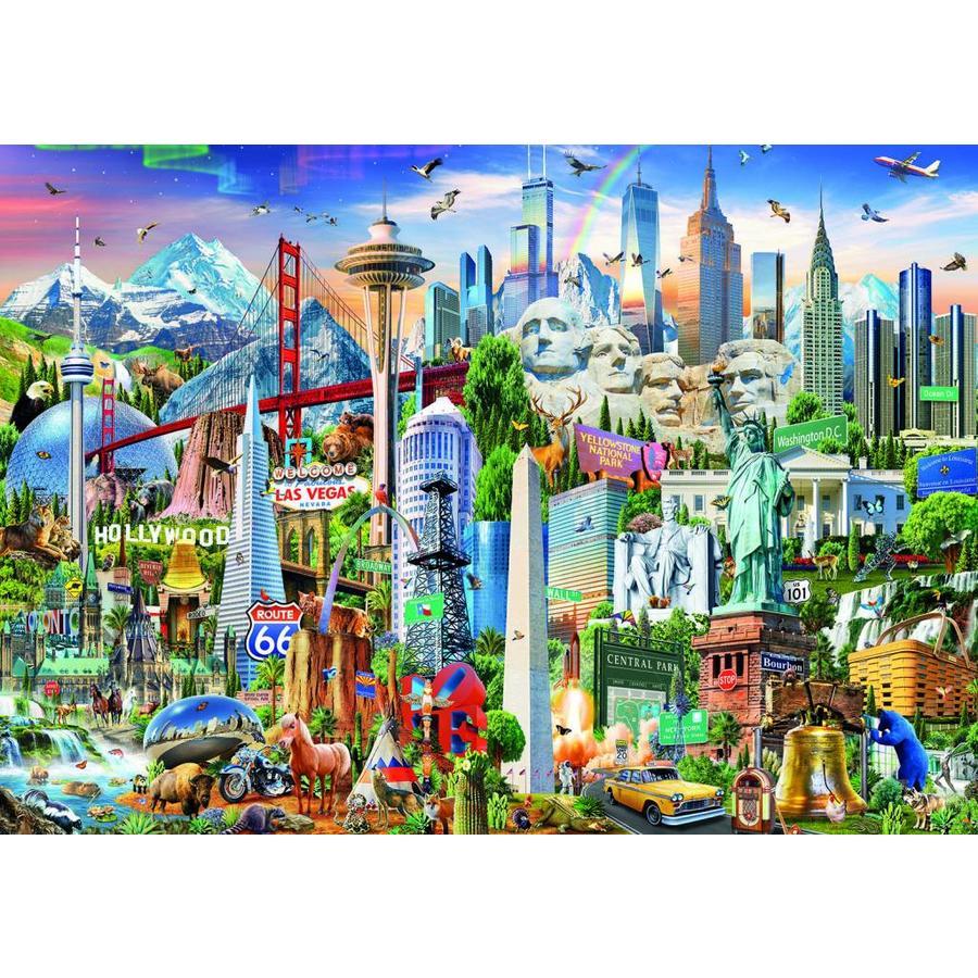 Symbolen van Noord-Amerika - legpuzzel van 1500 stukjes-2