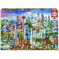 thumb-Symboles d'Amérique du Nord - puzzle de 1500 pièces-1