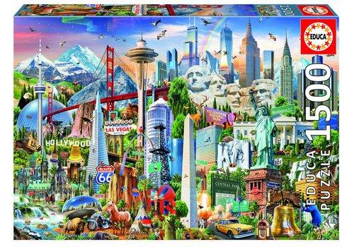 Symbolen van Noord-Amerika - 1500 stukjes