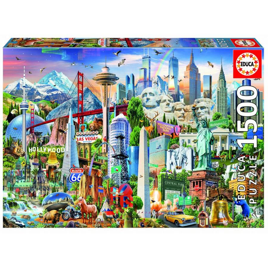 Symboles d'Amérique du Nord - puzzle de 1500 pièces-1