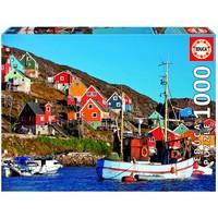 thumb-Maisons Nordiques - puzzle de 1000 pièces-1