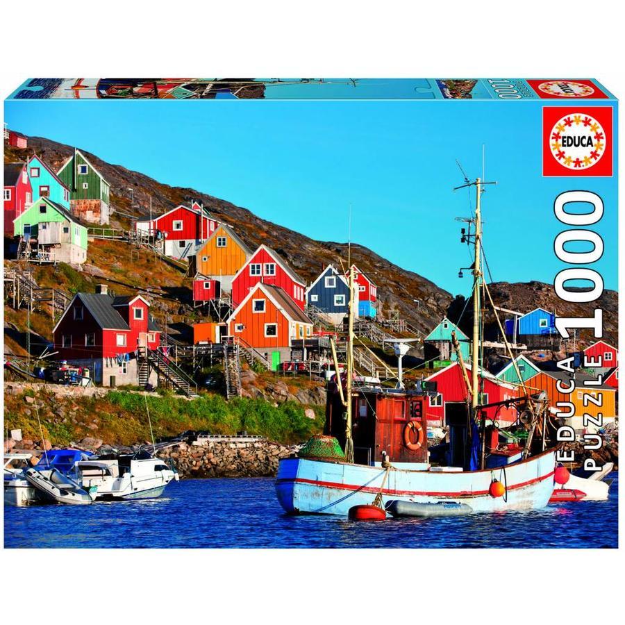 Noorse huisjes - legpuzzel van 1000 stukjes-1
