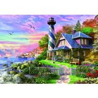 thumb-Phare à Rock Bay - puzzle de 1000 pièces-2