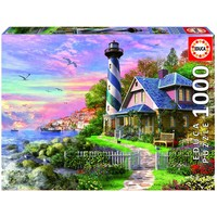 thumb-Phare à Rock Bay - puzzle de 1000 pièces-1