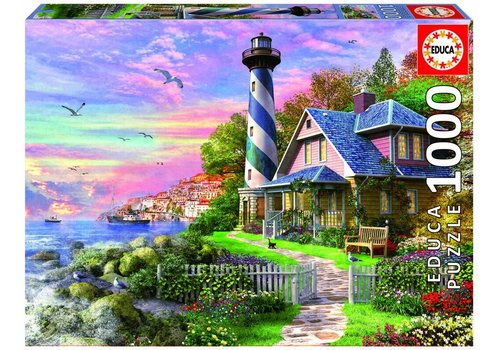 Educa Lighthouse at Rock Bay - 1000 pieces