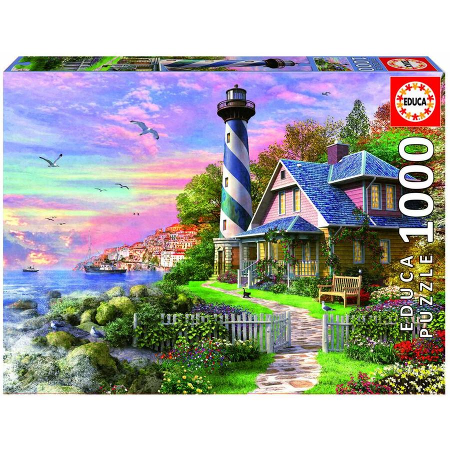 Educa Lighthouse at Rock Bay - jigsaw puzzle of 1000 pieces