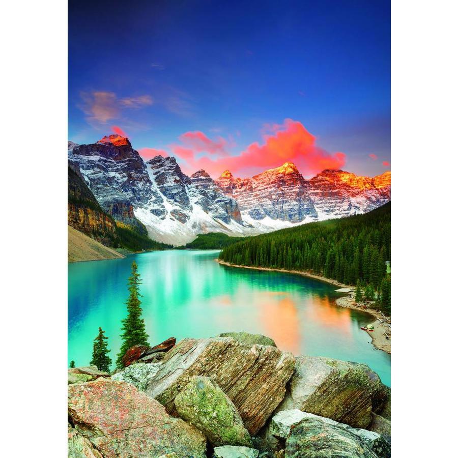 Lac de montagne au Canada - puzzle de 1000 pièces-2