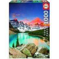 thumb-Lac de montagne au Canada - puzzle de 1000 pièces-1